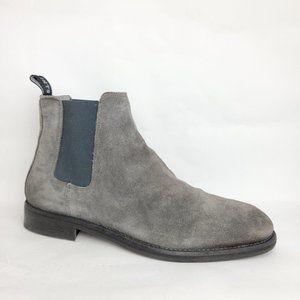 ALLSAINTS Harley Distressed Boot Gray Men's 42 9